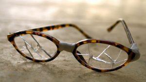 Broken eyeglasses